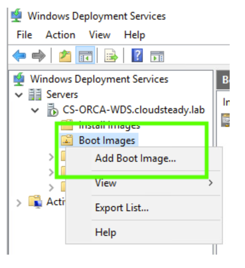 WDS Boot Images