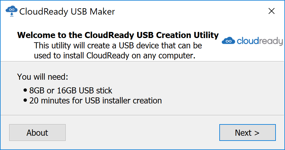 USB Maker First Page
